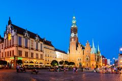 Wroclaw Market Square, Poland Stock Photography