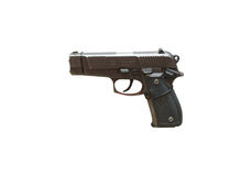 Wroclaw, Poland - July 4, 2017: Close up on Mag 95  handgun isol. Ated on white Stock Photo
