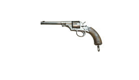 Wroclaw, Poland - July 4, 2017: Close up on Reichsrevolver 1879 Royalty Free Stock Images
