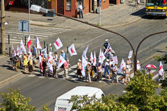 WROCLAW, POLAND - JULY 02: Pensioners protesting under the Solid Stock Images