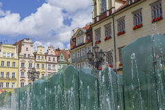 WROCLAW, POLAND - JULY 07, 2016: Wroclaw City center, Fountain a Stock Image