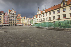 WROCLAW, POLAND - JULY 07, 2016: Wroclaw City center, Fountain a Royalty Free Stock Photos