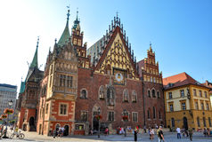 Wroclaw, Poland - June 25, 2012 City Hall on Market Square in Wroclaw stock photography