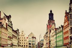 Wroclaw, Poland. The market square Stock Photos
