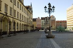 Wroclaw, Poland - market square Stock Photography