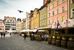 Wroclaw, Poland. The market square Royalty Free Stock Photo