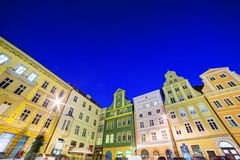 Wroclaw, Poland. The market square at night Royalty Free Stock Photos