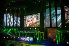 Wroclaw. POLAND - May 28:E-spor, GEFORCE CUP 2017, Counter Strik. E Global Offensive match, SC:GO  on May 28, 2017 in Wroclaw. Poland Royalty Free Stock Photo