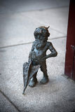 Wroclaw, Poland - May 10: Wroclaw gnome on the street on May 10, Stock Image