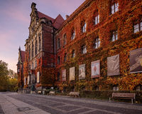 Wroclaw, Poland, - November 1, 2015: Wroclaw National museum Royalty Free Stock Photo