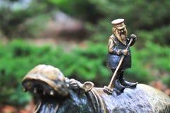 WROCLAW, POLAND, October 2018: `Hipoczysciciel` dwarf Wroclaw ZOO, Dwarf, Gnome - small figurines, tourist attraction in Wroclaw. stock photo
