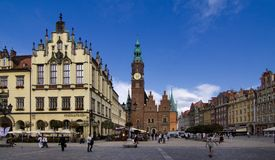 Wroclaw in Poland (old town) Royalty Free Stock Image