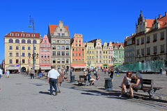 WROCLAW, POLAND - 12.09.2016: Old Town and Market Square in Poland, Europe Royalty Free Stock Photo