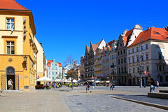 WROCLAW, POLAND - 12.09.2016: Old Town and Market Square in Wroclaw in Poland, Europe Royalty Free Stock Images