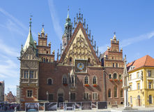 WROCLAW, POLAND - SEPTEMBER 17.2015:,old town main square, City hall, September 17.2015  Wroclaw, Poland Stock Photography