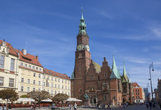 WROCLAW, POLAND - SEPTEMBER 17.2015:,old town main square,Mary Magdalene Church, September 17.2015  Wroclaw, Poland Stock Photo