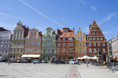 WROCLAW, POLAND - SEPTEMBER 17.2015:,old town main square, September 17.2015  Wroclaw, Poland Royalty Free Stock Image