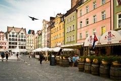 Wroclaw poland Targowy kwadrat Zdjęcie Royalty Free