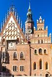 Wroclaw, Poland. Town Hall on Main Market Square, Wroclaw, Silesia, Poland Stock Photo