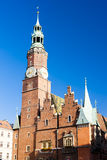 Wroclaw, Poland. Town Hall on Main Market Square, Wroclaw, Silesia, Poland Royalty Free Stock Image