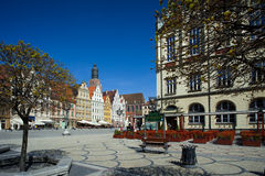 Wroclaw Poland, Town Market Square Royalty Free Stock Image