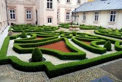 Wroclaw, Poland: Zwiedzunic Knot Garden Royalty Free Stock Image