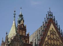 Wroclaw in Polen stock afbeeldingen