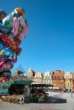 Wroclaw Polen, het Vierkant van de Markt van de Stad Royalty-vrije Stock Fotografie
