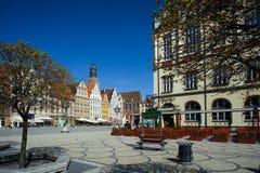 Wroclaw Polen, het Vierkant van de Markt van de Stad Royalty-vrije Stock Afbeelding
