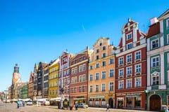 Wroclaw - Polen historisk mitt Fotografering för Bildbyråer