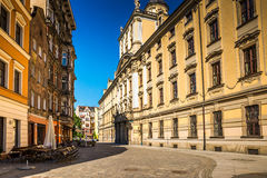 Wroclaw - Polen historisk mitt Arkivbilder