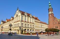 Wroclaw, Polen - Juni 25, het Stadhuis van 2012 op Marktvierkant in Wroclaw Stock Afbeeldingen