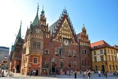 Wroclaw, Polen - Juni 25, het Stadhuis van 2012 op Marktvierkant in Wroclaw Stock Fotografie