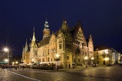Wroclaw in Polen (Lager Silesië) Royalty-vrije Stock Foto's