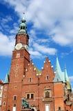 Wroclaw, Polen: Ratusz (Rathaus) Lizenzfreie Stockfotos