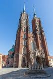 Wroclaw, Pologne - vers en mars 2012 : Cathédrale gothique médiévale de St John le baptiste à Wroclaw, Pologne Image libre de droits