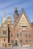 Wroclaw, Pologne, vieux hôtel de ville photos stock