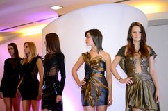 Sfilata di moda - Wroclaw, Polonia immagini stock