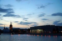 Wroclaw por noche imagen de archivo libre de regalías