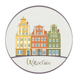 Wroclaw Rynek square facades Stock Photography