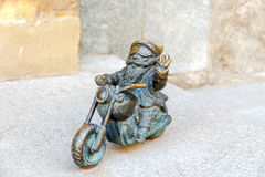 Wroclaw. Sculpture gnome. royalty free stock images