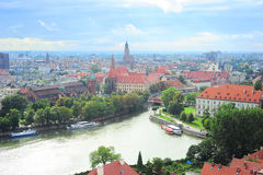 Wroclaw skyline Stock Photography