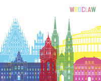 Wroclaw skyline pop Stock Photography