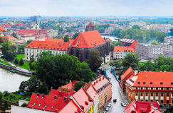 Wroclaw street, Poland Stock Image