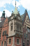 Wroclaw  the town hall. Baroque town hall on the market in Wroclaw Stock Image