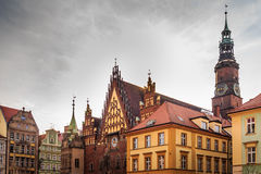 Wroclaw town hall. Landscape of Polish architecture Stock Photography