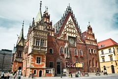 Wroclaw Town Hall Stock Images