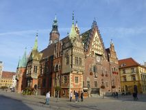 Wroclaw Town Hall. Western Poland. royalty free stock photography