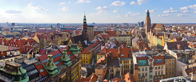 Wroclaw town square Royalty Free Stock Photo