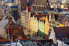 Wroclaw town square Royalty Free Stock Image